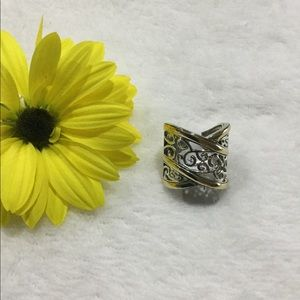 NEW Sterling Silver and 10k gold Ring 7.5